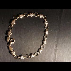 Jewelry - 14K GOLD & STERLING SILVER BRACELET
